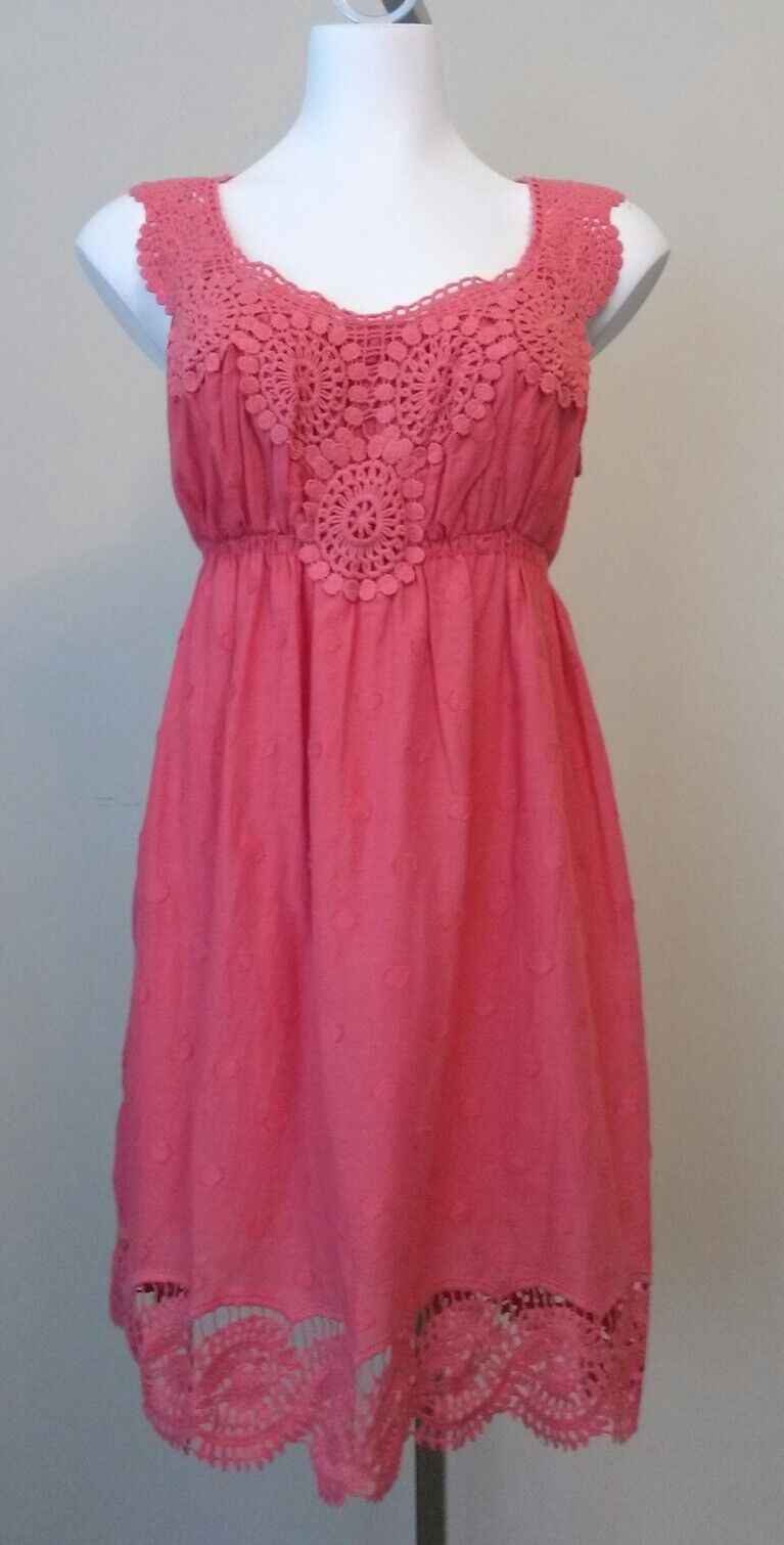 NWT Studio M Womens Peach Sleeveless Dress Size Small  128