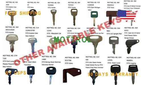 JCB Backhoe Fermac Heavy Equipment Ignition 5 PC KEYS 81404 FITS Terex Keys