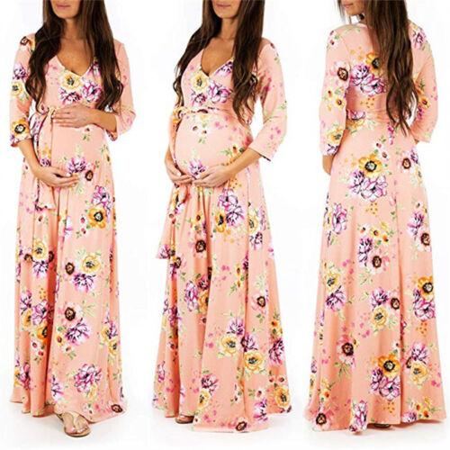 Pregnant Women Maternity Maxi Long Gown Wrap Dress Photography Photo Shoot Props