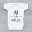 Personnalisé nom du bébé /& Initiale Keepsake Unisexe bébé grandir Body