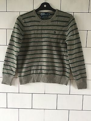 5a2b913a4 RALPH LAUREN 90 S URBAN VINTAGE RETRO GREY KNITTED PURE LAMBSWOOL JUMPER UK  6