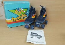 Quad Roller Skates Size UK 1 Eur 33 Retro Vintage in box Roller Derby Disco Blue