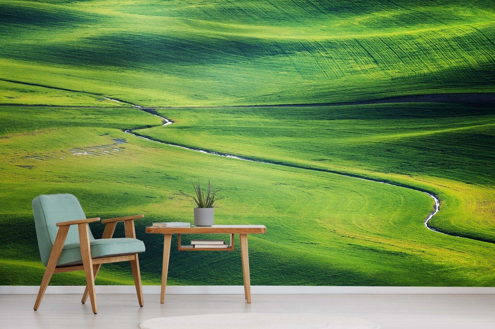 3D Grassland Green 7065 Wallpaper Mural Paper Wall Print Indoor Murals CA Summer
