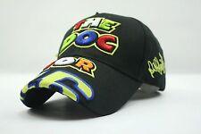 2016 Valentino Rossi The Doctor Moto GP Motorcycle Baseball Hat Peaked Cap Black