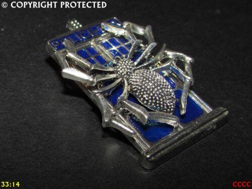 Steampunk Insignia Broche Pin Tardis Nuevo Dr Doctor quién policebox Araña arácnido