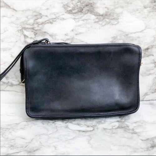 Coach Black Leather Bonnie Cashin Shoulder Bag