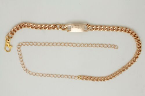 Women Gold Metal Chain Skinny Classy Charm Plate Buckle Belt Plus Size XL XXL