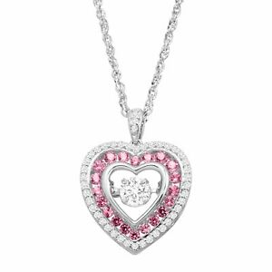 Created-Pink-amp-White-Sapphire-Floater-Heart-Pendant-in-Sterling-Silver