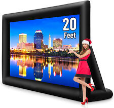 20ft Inflatable Movie Projector Screen Projection Screen For Backyard Movienight