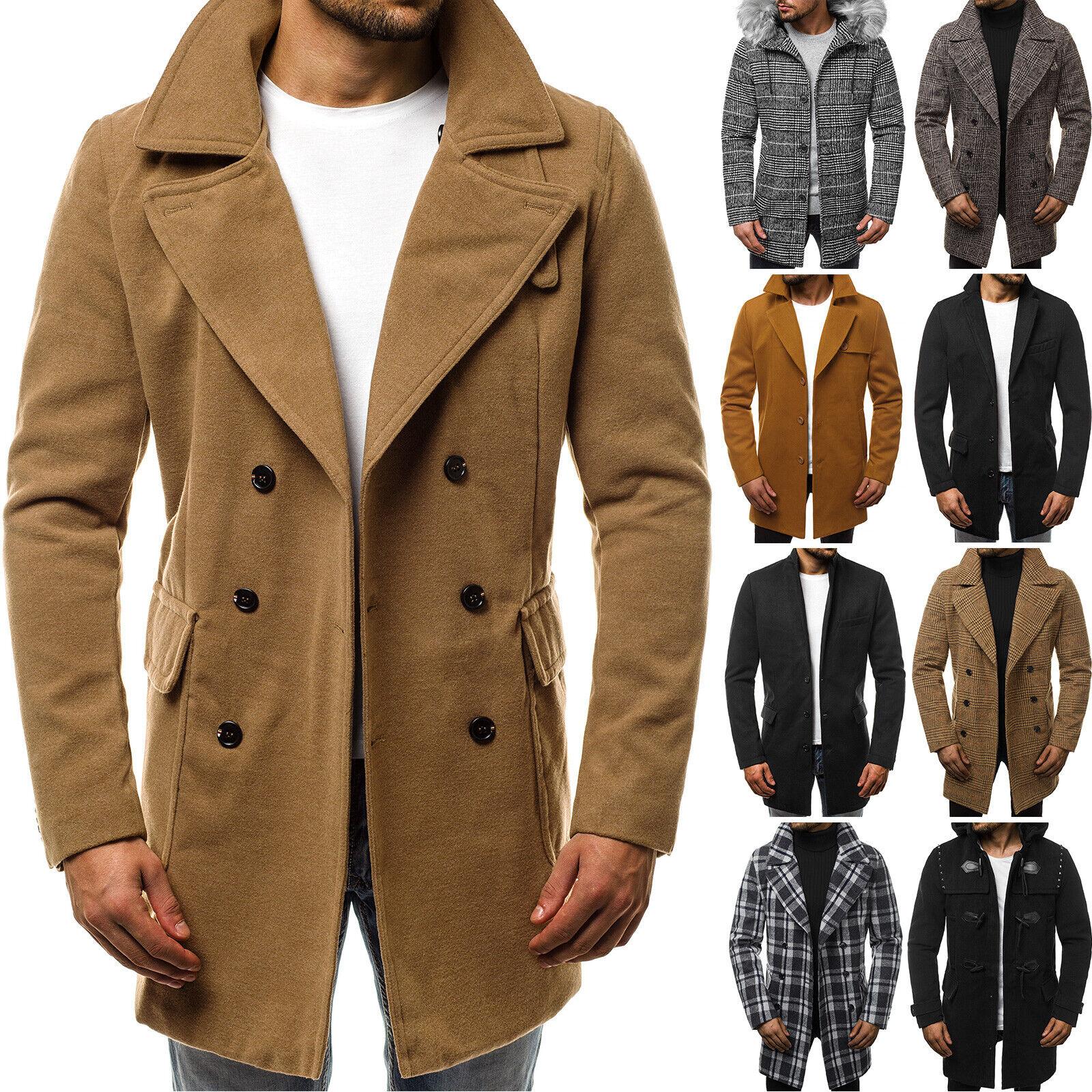 Mantel Übergangs Jacke Coat Sakko Classic Winter Casual Herren OZONEE 7782 MIX