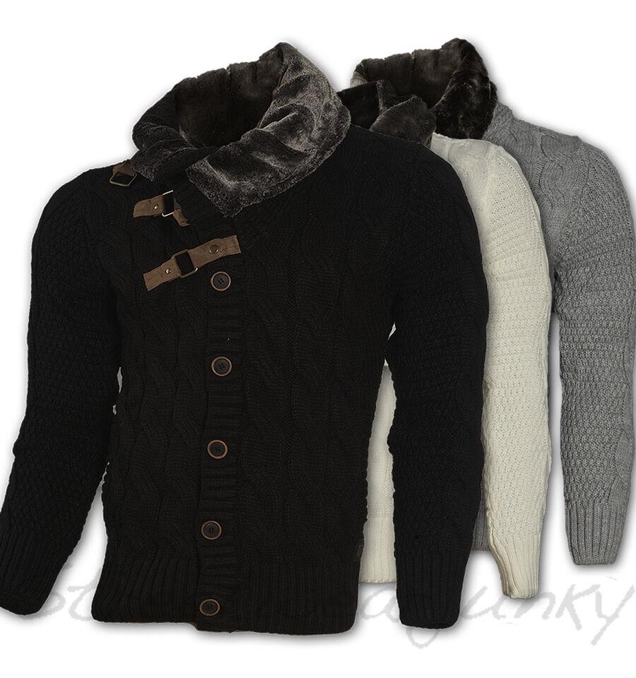 CARISMA CARDIGAN con pelliccia Dolcevita Sweater Maglione Giacca s-4xl 7164