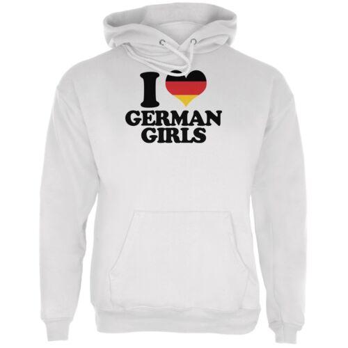Oktoberfest I Heart German Girls White Adult Hoodie