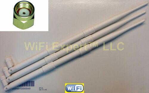 White 3 9dBi 2.4GHz 5GHz Dual Band RPSMA Antennas Linksys EA6900 ASUS RT-AC68U