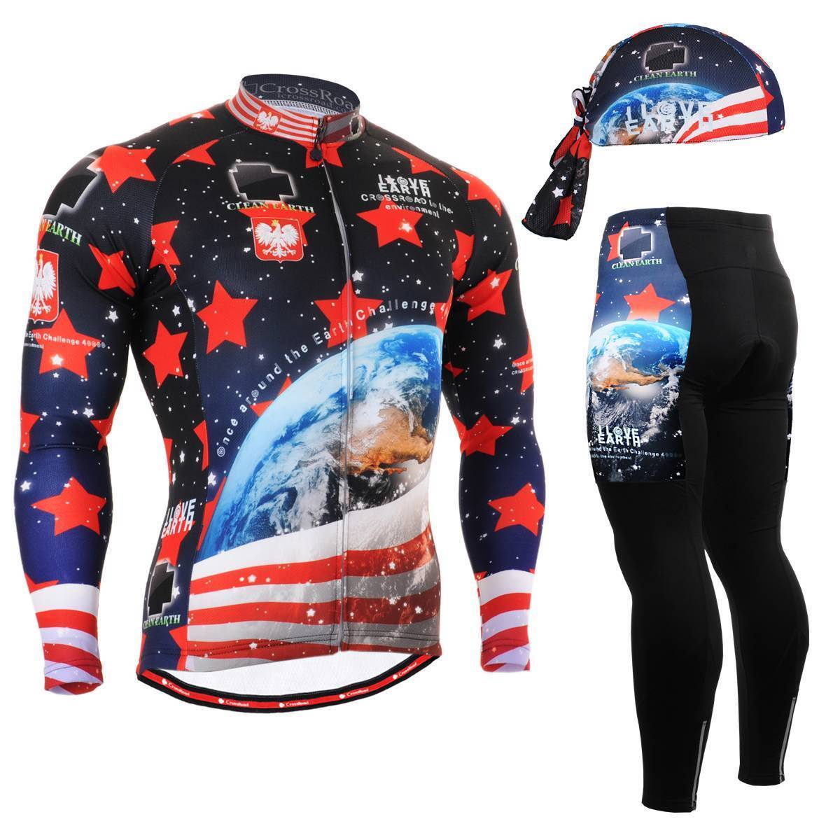 FIXGEAR CS-1001 SET Cycling Jersey & Padded Pants,MTB Bike,BMX,Beanie Free GIFT