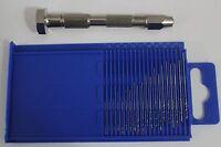 Set Of 20pc Mini Drill Bit Set Index 61-80 + Swivel Head Pin Vise