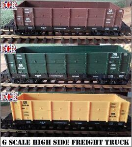 G-SCALE-45mm-GAUGE-HIGH-SIDE-CARGO-FREIGHT-ROLLING-STOCK-RAILWAY-TRAIN-TRUCK