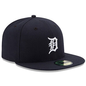 ac18ee82e04 DETROIT TIGERS Home New Era 5950 Cap 59Fifty MLB Baseball Fitted Hat ...