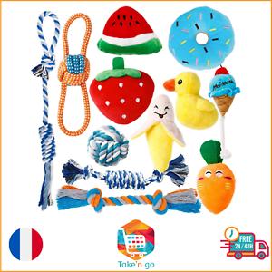 Jouet Pour Chiot Petit Chien x12 Indestructible Animalerie Peluche Coton Naturel