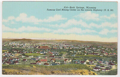 Town Of Rock Springs Wyoming Stock Photo - Download Image