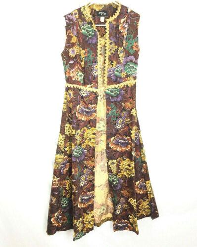 Vintage 1969 Gunne Sax Floral Dress Black Label Ra