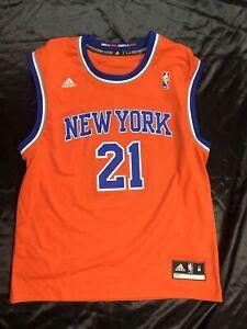 Iman Shumpert New York Knicks NBA Jersey M Adidas Rare #21 Orange ...