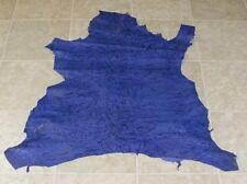 (CDE7630-1) Hide of Indigo Printed Lambskin Leather Hide Skin