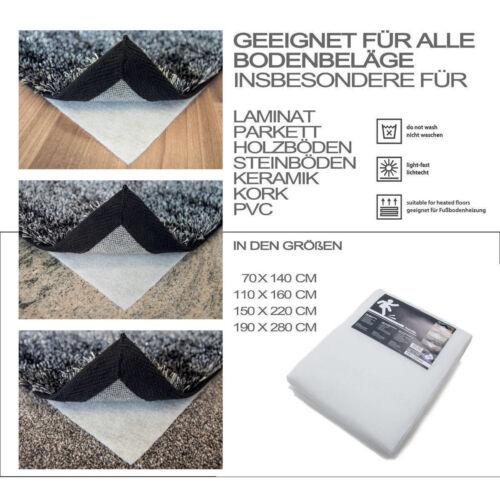 Antirutschmatte Teppichunterlage Teppichbremse Rutschfest Weiß 190X280cm