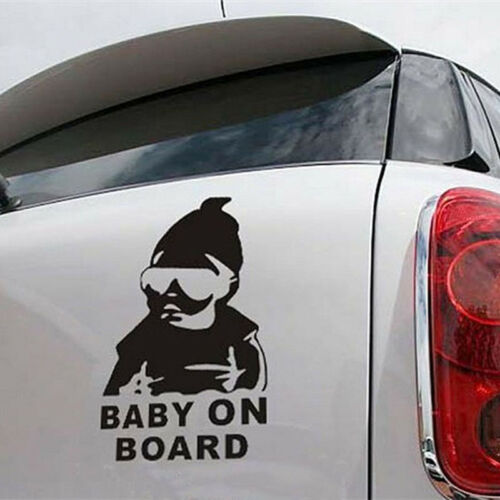 """New Hot Cute /""""Baby on Board/"""" Safety Sign Car Stickers Kawaii Baby Image Stickers"""