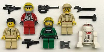 A-Wing B-Wing Pilots R5D4 5 Lego Rebel Alliance Minifig Lot Star Wars Figures