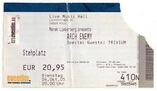 Arch Enemy - Alte Eintrittskarte Ticket vom 04.10.2005 - Schönes Sammlerstück