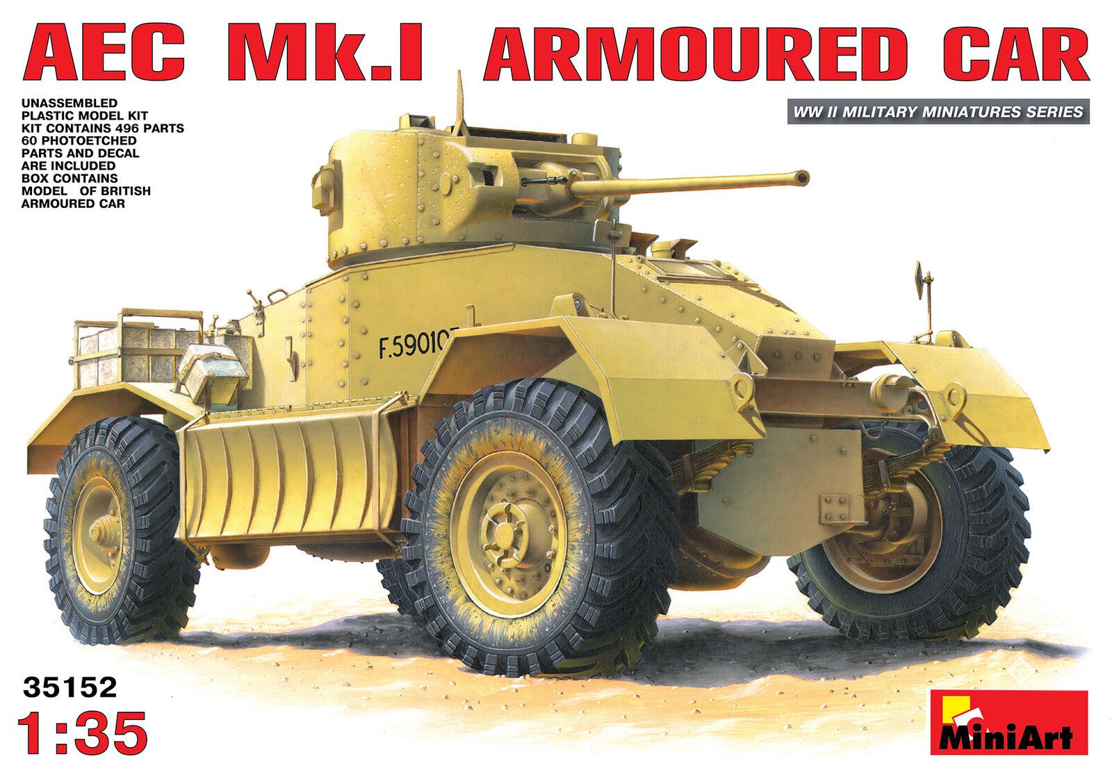 Miniart 1 35 Aec Mk.1 Blindato Auto  35152