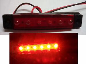 Luci ingombro rosso segnalatore led 24 v autocarro trattori camion