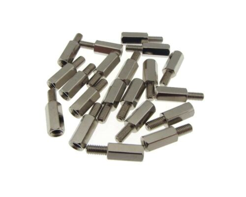 M3x15+6mm Metal Male//Female Standoff Board Spacers Nickel-plated Pack of 10