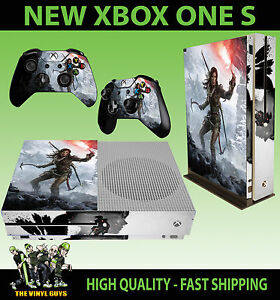 Details About Xbox One S Slim Console Sticker Rise Of The Tomb Raider Lara Skin 2 Pad Skins