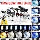 2x 35W/55W Xenon HID Lamp Bombillas Bulb H7 H1 H4 H11 H8 9005 5000K 6000K 8000K