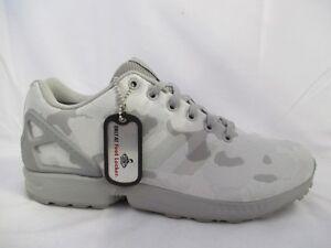 best service 64bd9 3122f Details about Mens Adidas ZX Flux Weave Grey/Grey/Camo AQ2872 Sizes 11.5 EU  46 2/3
