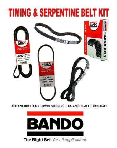 1994-1995 HONDA Accord LX 2.2L W//AC Timing /& Serpentine OEM Drive Belt Kit 4Pcs