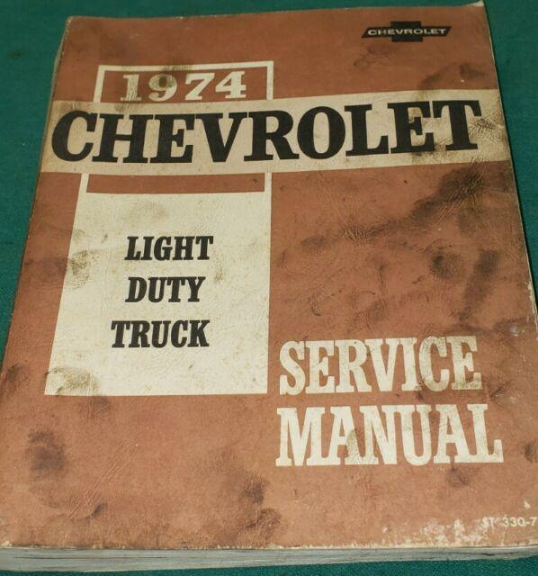 1974 Chevy C10 C20 C30 K10 K20 K30 Pickup Truck Shop