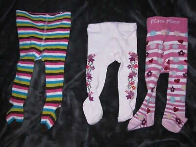 3 PAIRS GIRLS SOCKS 0-3 3-6 MTHS FLORAL//STRIPE PINK//WHITE NURSERY TIME