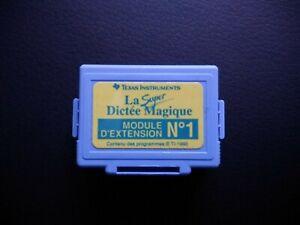 Module extension n°1 Texas instrument Super Dictée Magique RARE