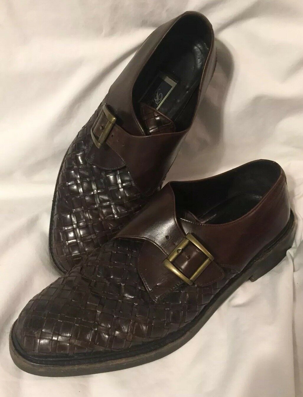 Bragano By Cole Haan Brown shoes Buckle 10.5 Made In  Leather Buckle Dress
