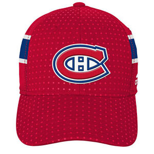 8484a76b3e7 Youth Montreal Canadiens adidas Red 2017 Draft Flex Hat NHL Hockey ...