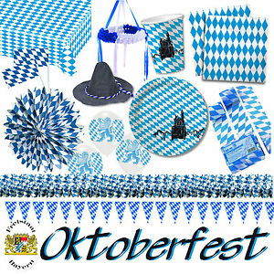 bayern oktoberfest alles zur mottoparty blau weiss. Black Bedroom Furniture Sets. Home Design Ideas