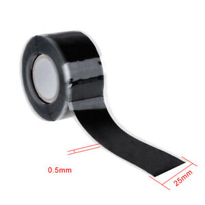 Black-Rubber-Silicone-Repair-Waterproof-Bonding-Tape-Rescue-Self-Fusing-Wire-YZ