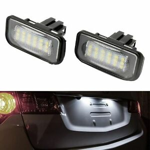 ECLAIRAGE-PLAQUE-LED-MERCEDES-SL-R230-CLK-W209-C209-CHRYSLER-CROSSFIRE-BLANC