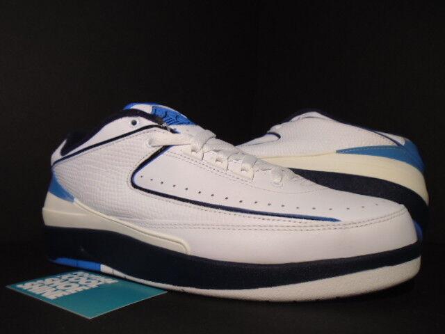 2004 Nike Nike Nike Air Jordan II 2 Retro Low bianca NAVY UNIVERSITY blu nero NEW 9 507684