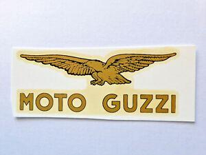 GüNstiger Verkauf Moto Guzzi Links Schriftzug Wasserabziehbild Abziehbild 75x29 Mm 00221m Gold Auto & Motorrad: Teile Accessoires & Fanartikel