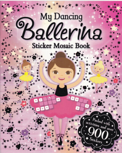 1 of 1 - Ballerina Sticker Activity Book, New with over 900 Stickers Mosaic Stickers