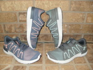 newest 36287 203f8 Details about NEW UNDER ARMOUR THRILL 3 RUNNING SHOE 1295770 SELECT  GRAY-PINK OR GRAY-BLUE $70