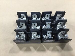 Lot-Of-2-Gould-Shawmut-60608J-Fuse-Holders-Holder-600V-3-Pole-004E4